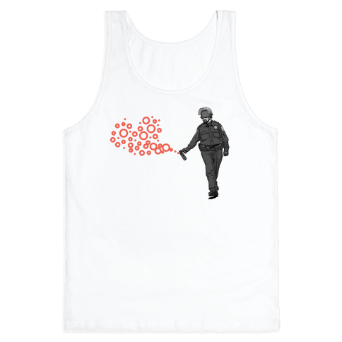 Pepper Spray Cop T-Shirt heart Tank Top