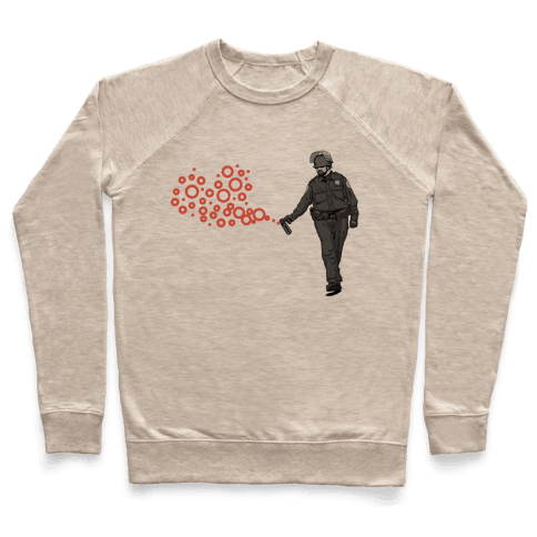 Pepper Spray Cop T-Shirt heart Pullover