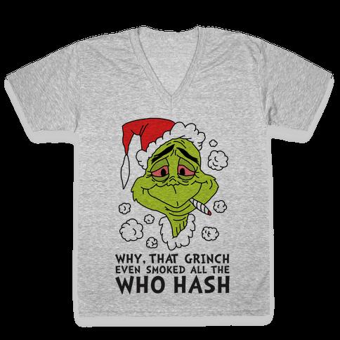 Who Hash V-Neck Tee Shirt