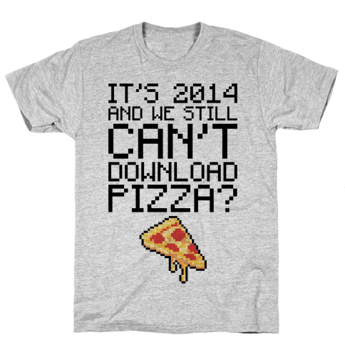 Pizza Download Mens T-Shirt