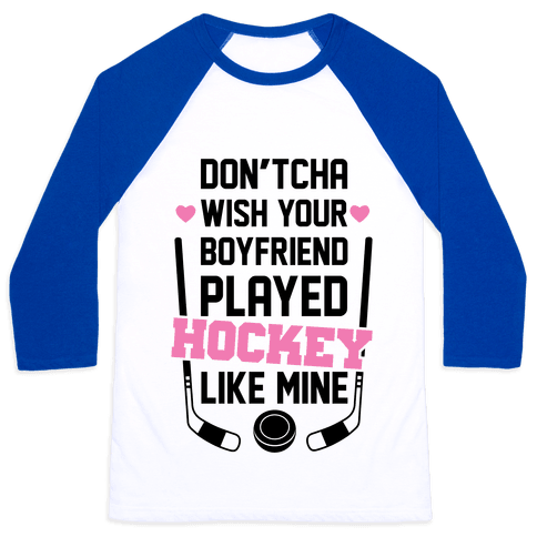 Hockey Boyfriend Baseball Tee