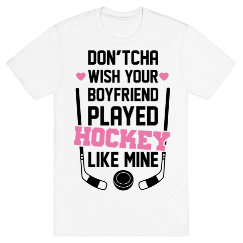 Hockey Boyfriend Mens T-Shirt