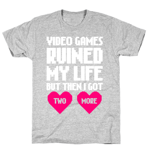 Video Games Ruined My Life Mens T-Shirt