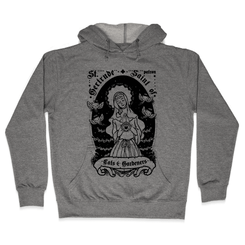 Saint Gertrude of Cats Hooded Sweatshirt