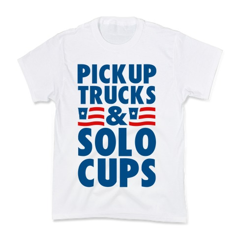 Pickup Trucks and Solo Cups Kids T-Shirt