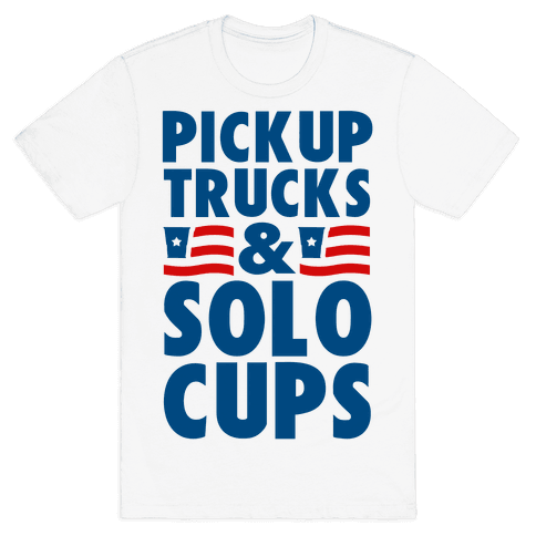 Pickup Trucks and Solo Cups Mens T-Shirt
