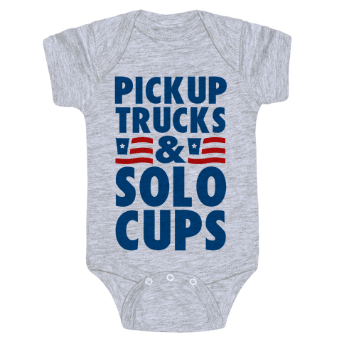Pickup Trucks and Solo Cups Baby Onesy