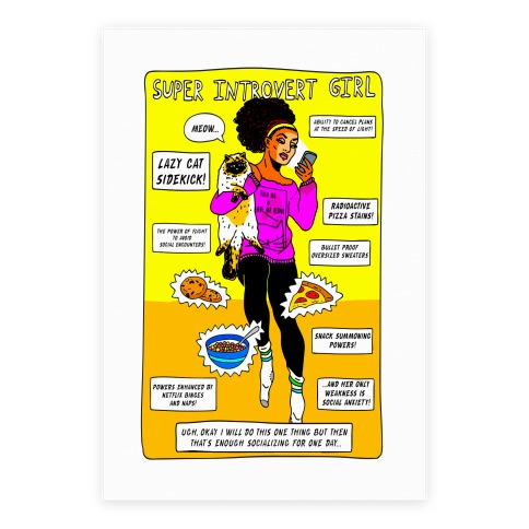 Super Introvert Girl Poster