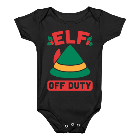 Elf Off Duty Baby Onesy