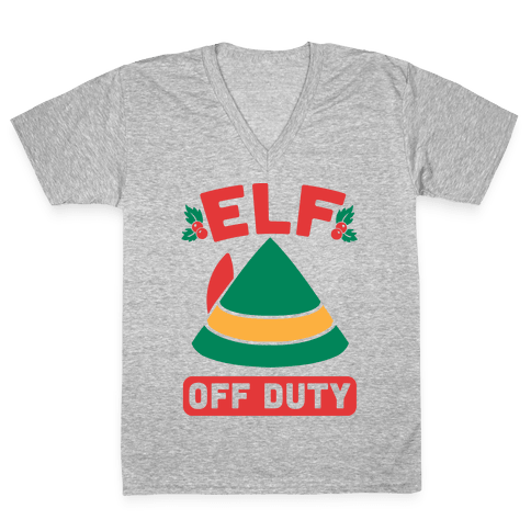 Elf Off Duty V-Neck Tee Shirt