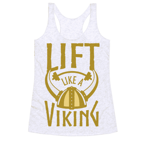 Lift Like A Viking Racerback Tank Top