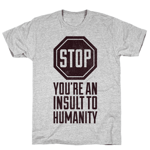 Stop Mens T-Shirt