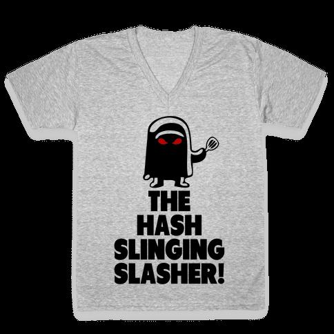 The Hash Slinging Slasher! V-Neck Tee Shirt