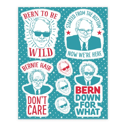 Bernie Sanders Party  Sticker/Decal Sheet