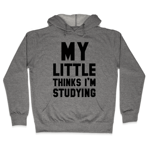 My Little Thinks I'm Studying Hooded Sweatshirt