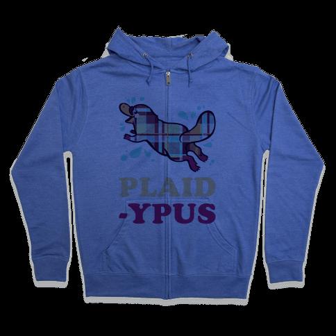 Plaidypus Zip Hoodie