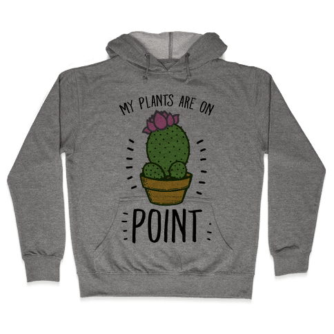 My Plants are on Point Hooded Sweatshirt