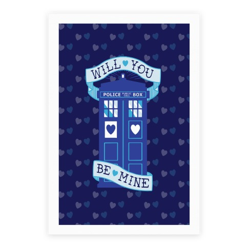 Will You Be Mine (Tardis) Poster Poster