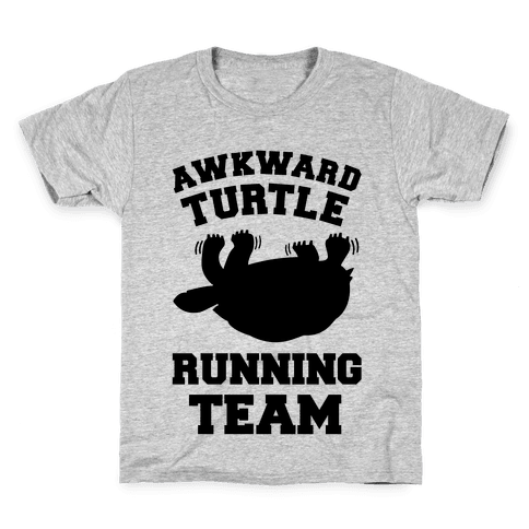 Awkward Turtle Running Team Kids T-Shirt