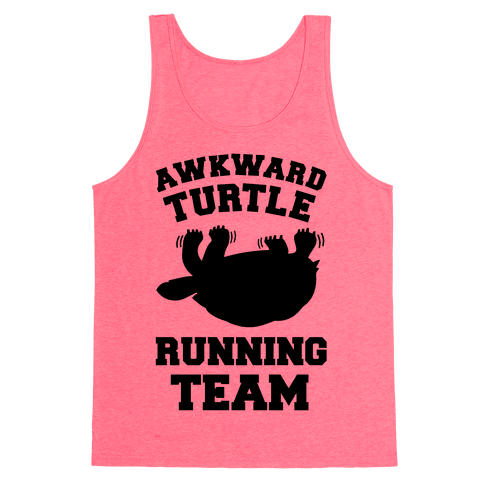 Awkward Turtle Running Team Tank Top