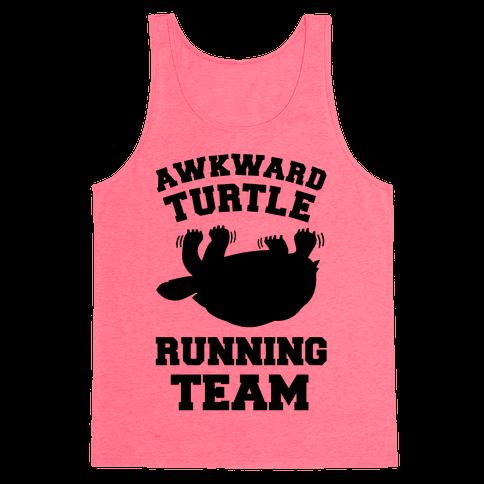 Awkward Turtle Running Team Tank Top