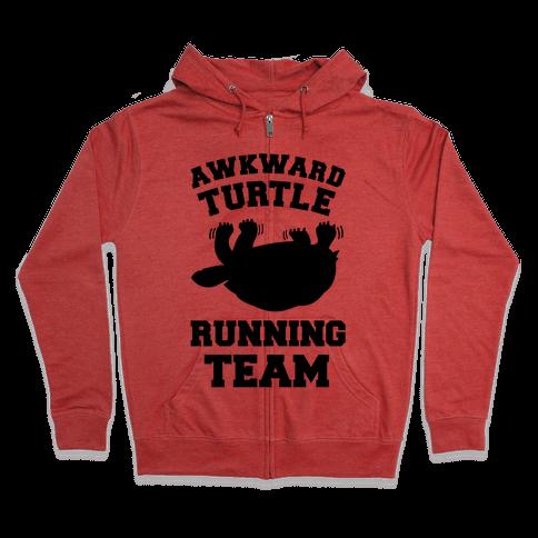 Awkward Turtle Running Team Zip Hoodie