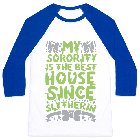 Slytherin Sorority Baseball Tee