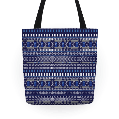 Dr Who Christmas Sweater.Merry Whomas Tote Bag Lookhuman