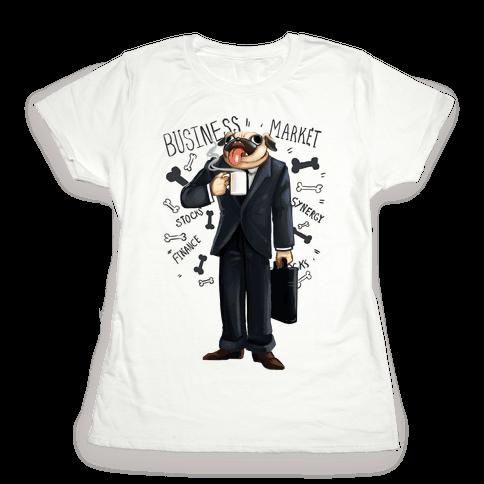 Professional Pug Womens T-Shirt