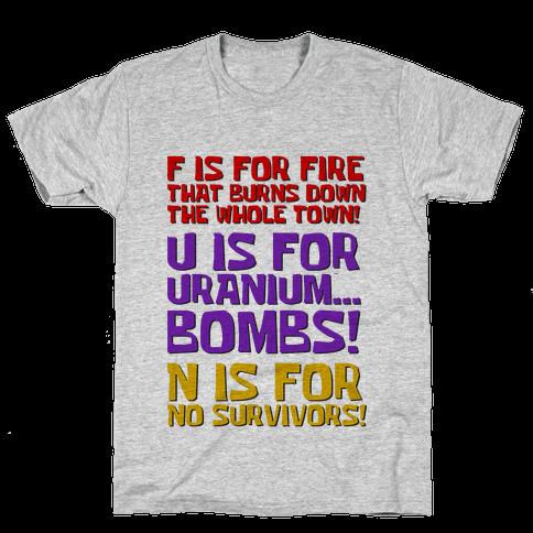 Plankton's F.U.N. Song Mens T-Shirt