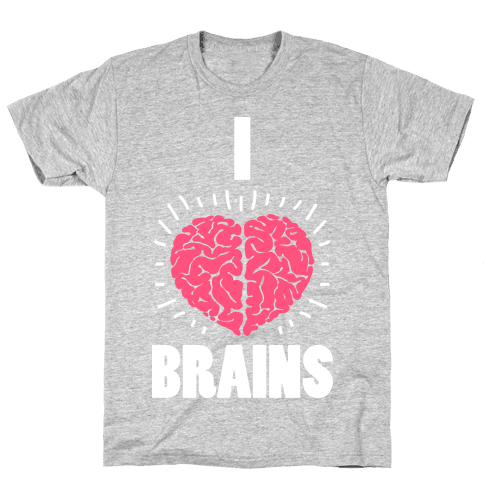 I Love Brains Mens T-Shirt