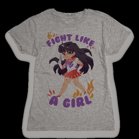 Fight Like A Girl: Mars Womens T-Shirt