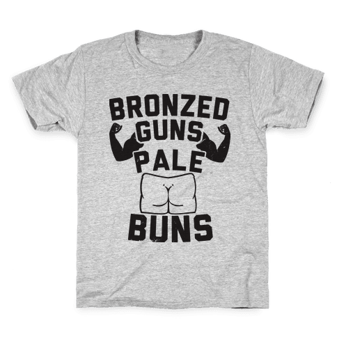 Bronzed Guns Pale Buns Kids T-Shirt