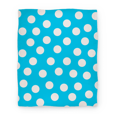 Blue Polka Dot Blanket Blanket