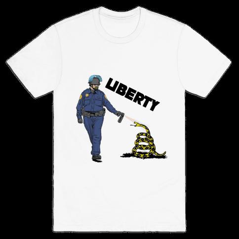 Don't Pepper Spray Liberty Mens T-Shirt
