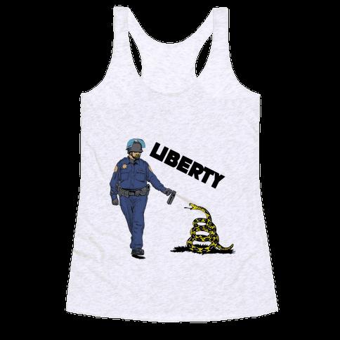 Don't Pepper Spray Liberty Racerback Tank Top