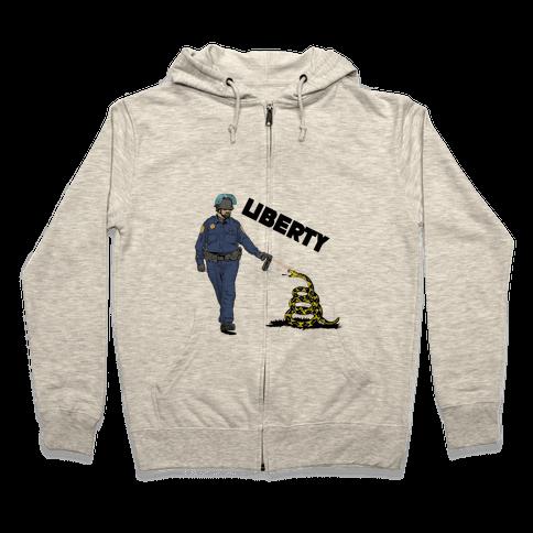 Don't Pepper Spray Liberty Zip Hoodie
