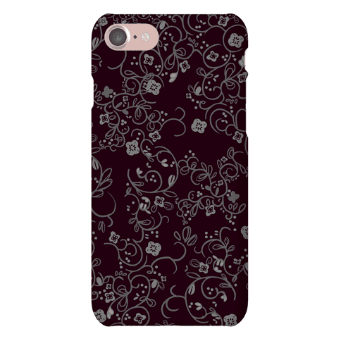 Gothic Flora Pattern Phone Case