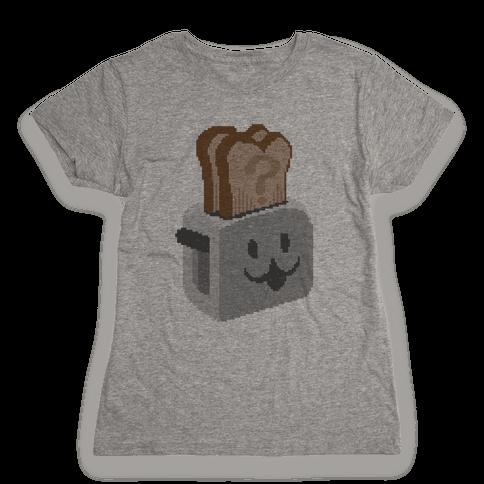 Pixel Toaster Face Womens T-Shirt