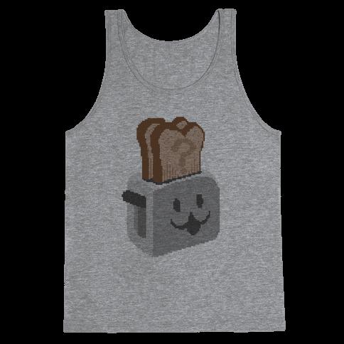 Pixel Toaster Face Tank Top