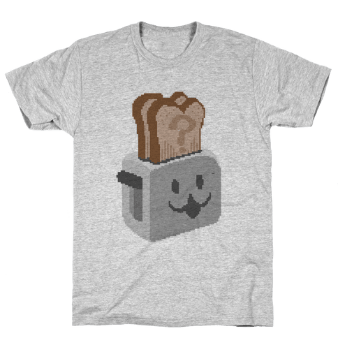 Pixel Toaster Face Mens T-Shirt