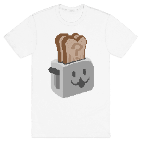 Pixel Toaster Face Mens T-Shirt