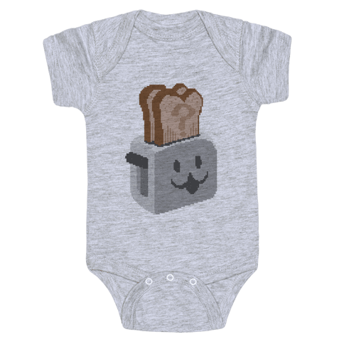 Pixel Toaster Face Baby Onesy