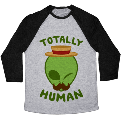 Totally Human Baseball Tee