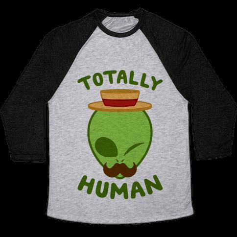 Totally Human Baseball Tee