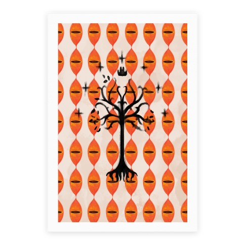 Tree Of Gondor Pattern Poster