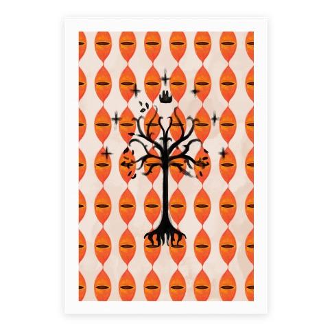 Tree Of Gondor Pattern Poster