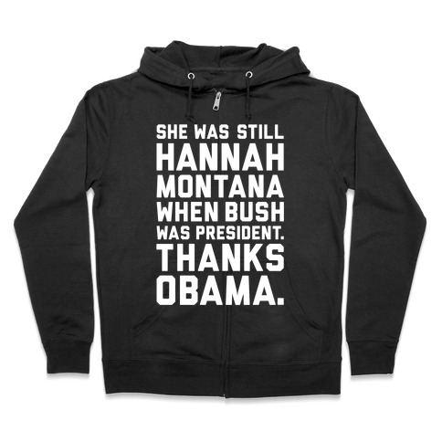Thanks Obama Zip Hoodie