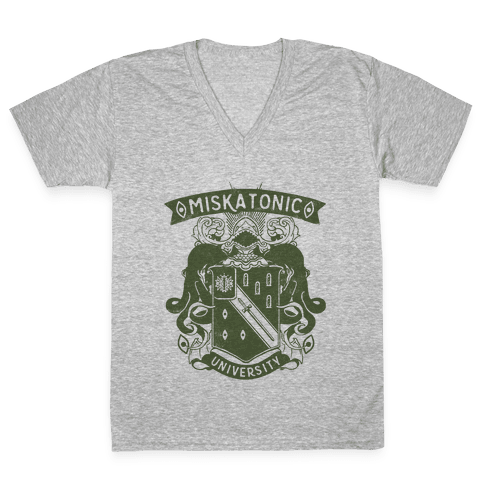 Miskatonic University V-Neck Tee Shirt