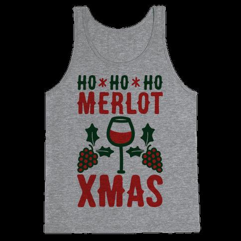 Ho Ho Ho Merlot Christmas Tank Top